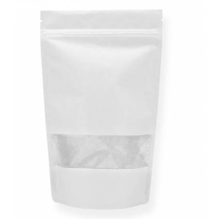 Doypack® Kraft Blanc Fenêtre