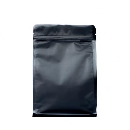 Box Pouch plastique Noir Zip 250 ml - 110x190+2x40